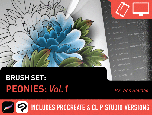 Brush Set: Peonies Vol. 1