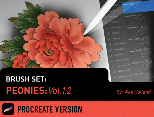 Brush Set: Peonies Vol. 1.2