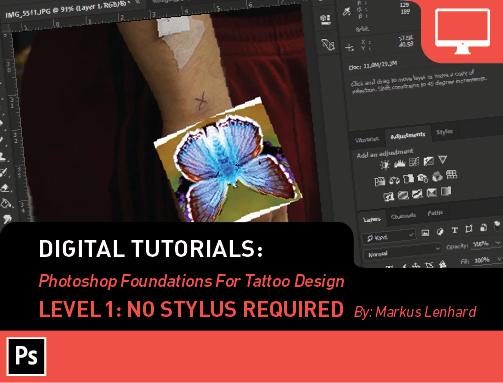 Digital Tutorials: Photoshop Foundations 1- No Stylus Required