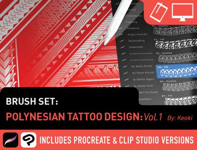 Brush Set: Polynesian Designs Vol. 1