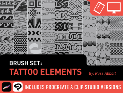 Brush Set: Tattoo Elements by Russ Abbott