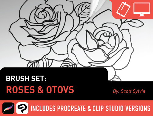 Brush Set: Roses & OTOVS