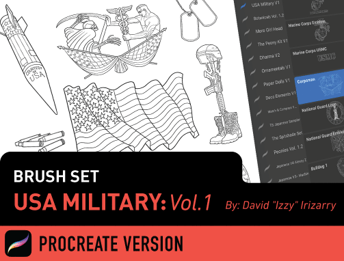 Brush Set: U.S. Military Vol. 1
