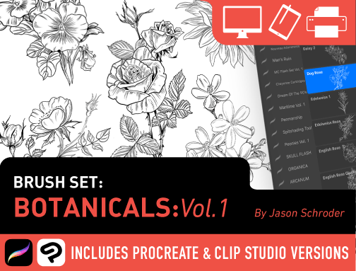 Brush Set: Botanicals Vol. 1