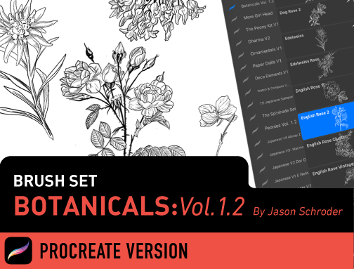 Brush Set: Botanicals Vol. 1.2