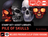 Brush Set + Asset Library: Pile of Skulls