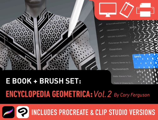 Brush Set: Encyclopedia Geometrica Vol. 2: Pattern Fades