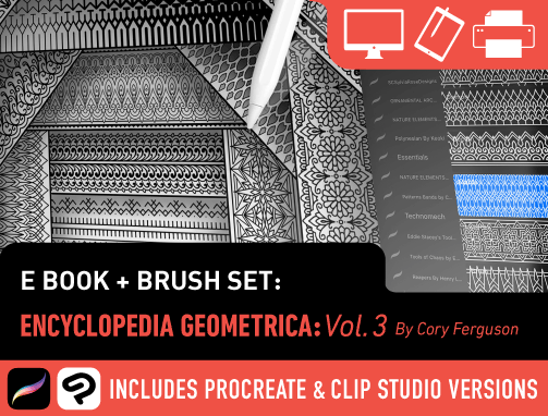Brush Set: Encyclopedia Geometrica Vol. 3: Pattern Bands