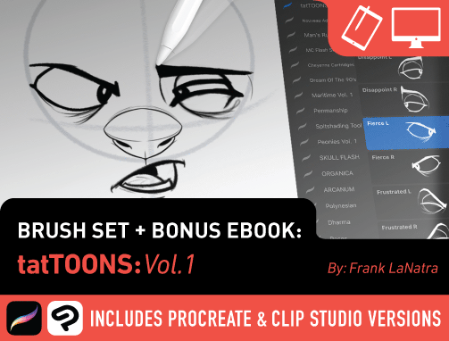 Brush Set: tatTOONS Vol. 1