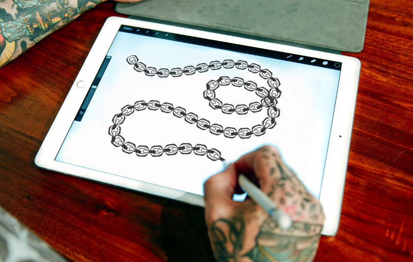 Drawing Straight Lines With Procreate : Brush set tattoo elements by alex ellis procreate smart