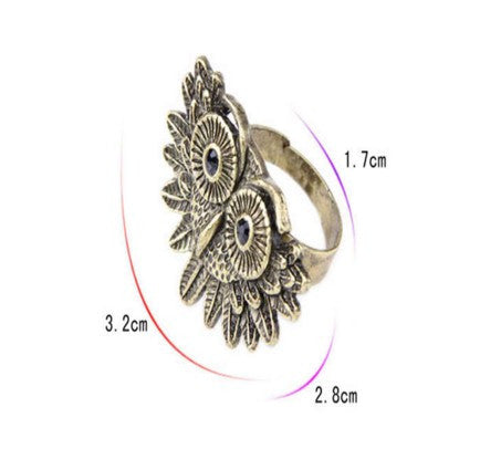 Beautiful Ancient Owl Ring