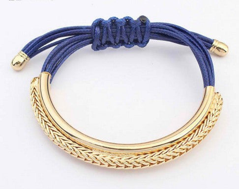 Leather Bracelets Luxury Handmade Rope Chain Charm
