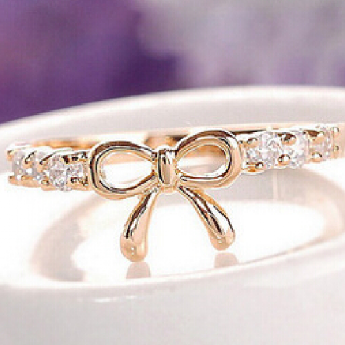 Simple Fashion Bow Index Finger Rings