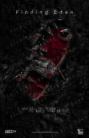 Finding Eden - Bloody Bootprint Poster (Donner Version)