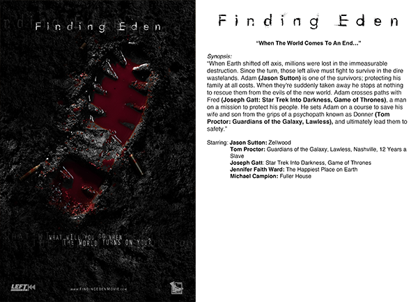 Finding Eden - Bloody Bootprint Synopsis Card (dual-sided)