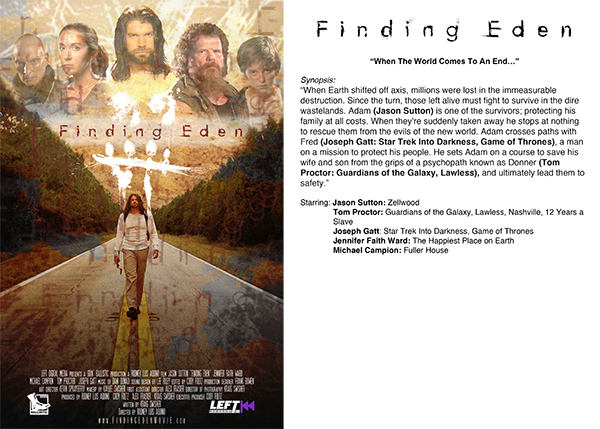 Finding Eden - Synopsis Card (dual-sided)
