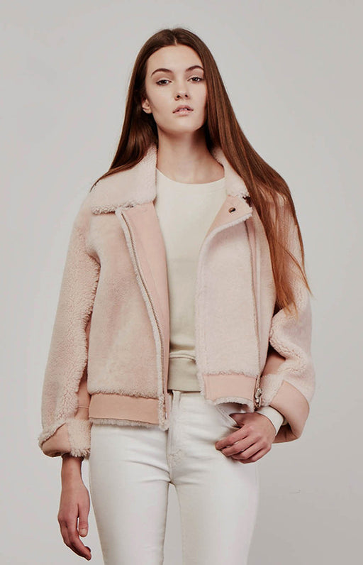 Designers Remix Light Pink Reversible Shearling Candy Coat