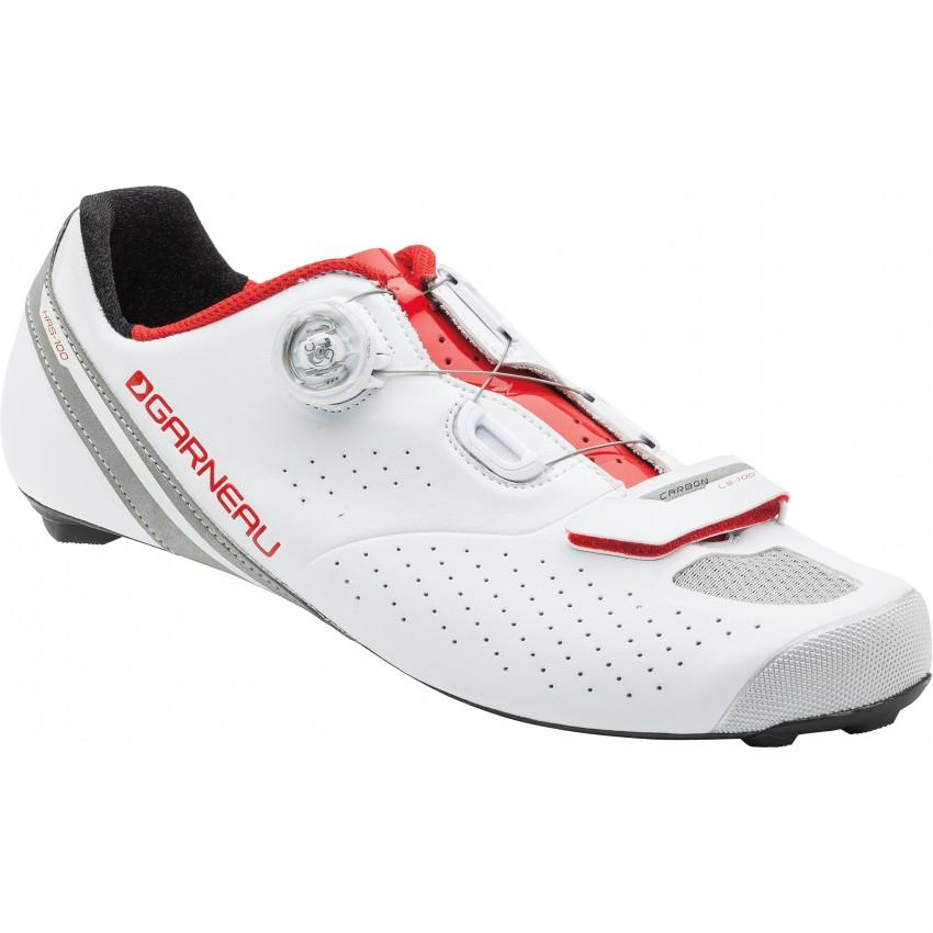 Carbon LS-100 II Cycling Shoes Unisex 45.5 White/Ginger