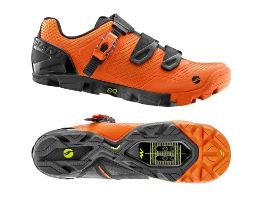 GIANT Flow Shoe MES Composite Sole 41.5 Orange/Black