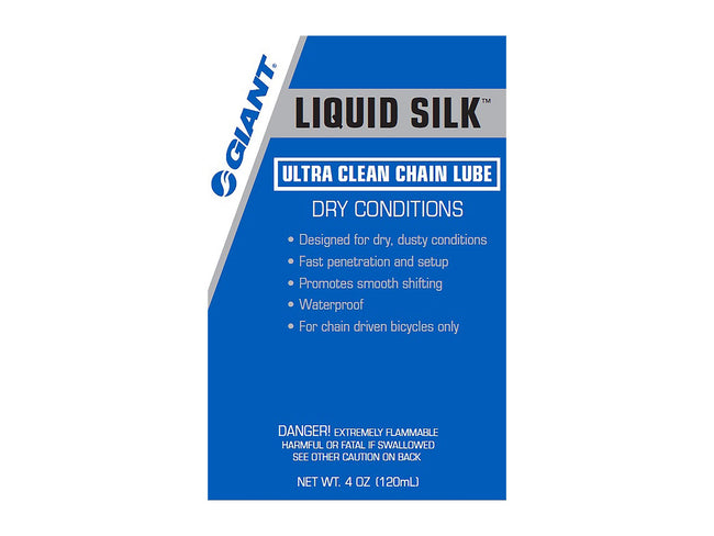 Giant Liquid Silk Ultra Clean Dry Chain Lube 4oz Drip Bottle