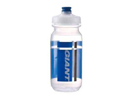 GIANT PourFast DoubleSpring Water Bottle 20oz Clear/Blue Logo