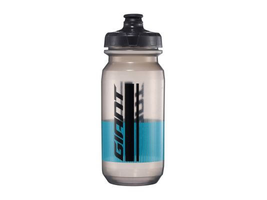 GIANT PourFast DoubleSpring Water Bottle 20oz Clear/Blue Lines