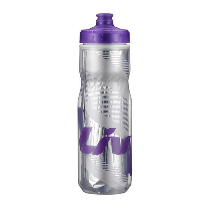 Liv PourFast Evercool DoubleSpring Water Bottle 20oz Clear / Purple