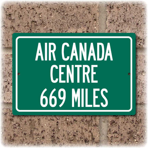 Personalized Highway Distance Sign To: Air Canada Centre, Home of the Toronto Raptors