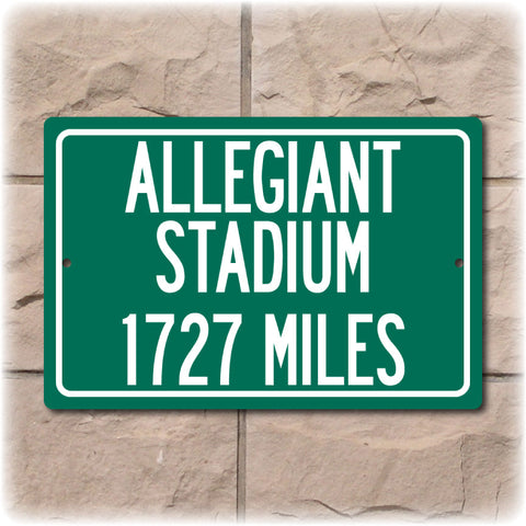 Personalized Highway Distance Sign To: Allegiant Stadium - Future Home of the Las Vegas Raiders