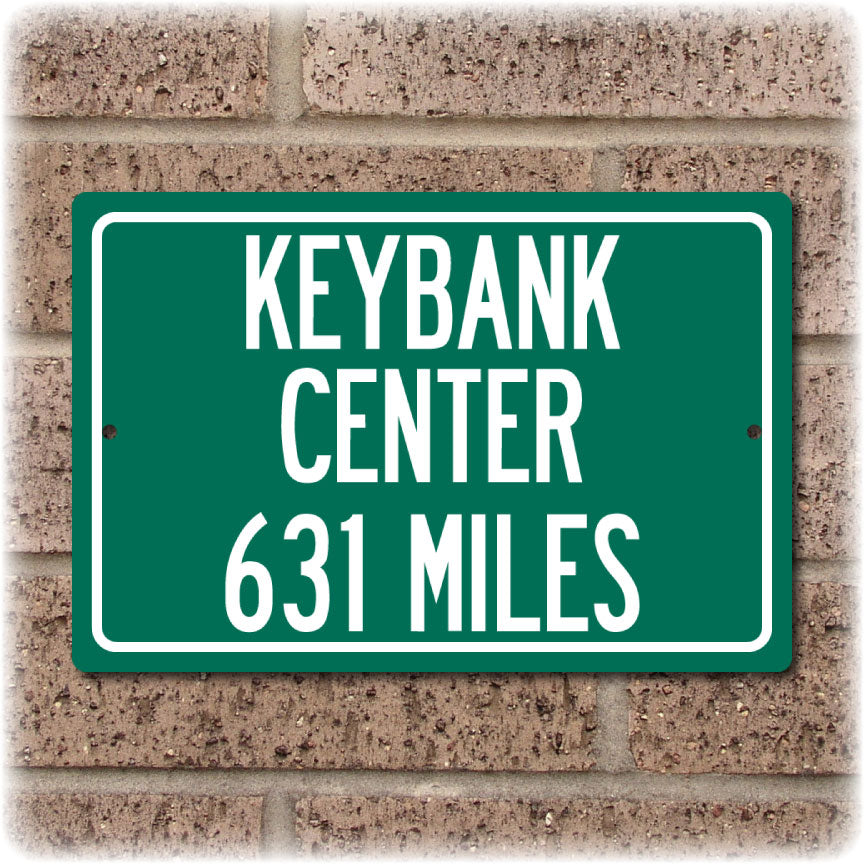 Personalized Highway Distance Sign To: KeyBank Center, Home of the Buffalo Sabres