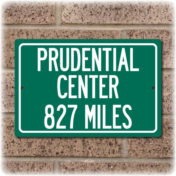 Personalized Highway Distance Sign To: Prudential Center, Home of the New Jersey Devils