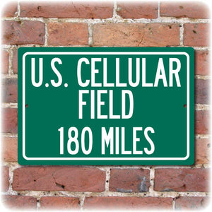 Personalized Highway Distance Sign To: U.S. Cellular Field, Home of the Chicago White Sox