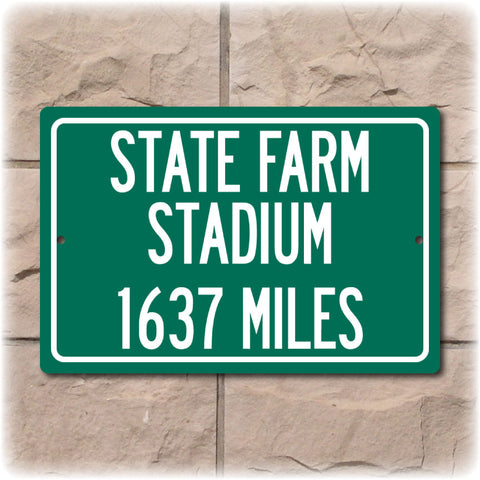 Personalized Highway Distance Sign To: State Farm Stadium, Home of the Arizona Cardinals