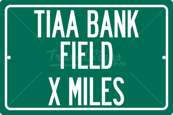 Personalized Highway Distance Sign To: TIAA Bank Field, Home of the Jacksonville Jaguars