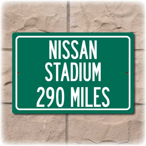 Personalized Highway Distance Sign To: Nissan Stadium, Home of the Tennessee Titans