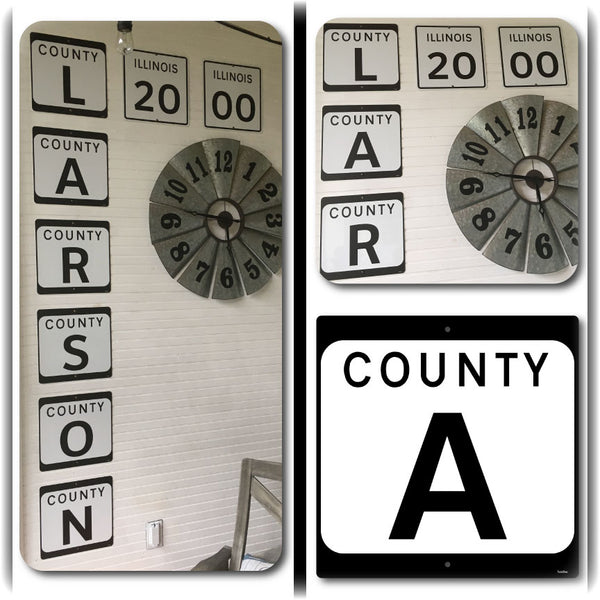 County Letter Highway Signs