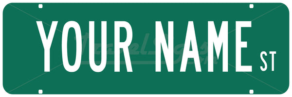 Personalized Name Street Sign