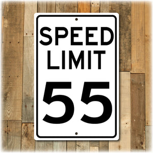 Personalized Speed Limit Street Sign