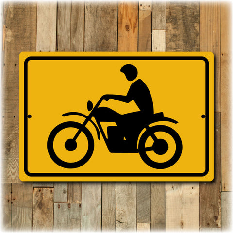 Motorcycle Warning DOT Street Sign