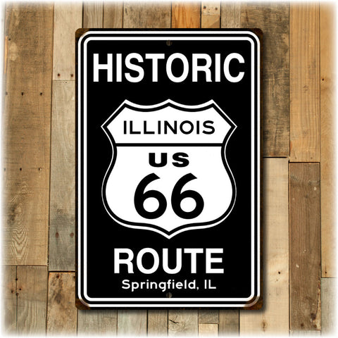 Personalized  Distressed Route 66 Sign