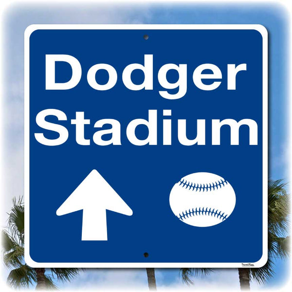 Dodger Stadium Direction Sign, Home of the Los Angeles Dodgers