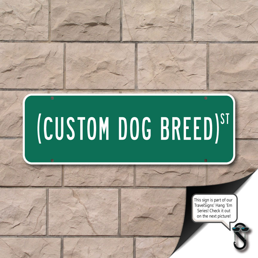 Custom Dog Breed Sign