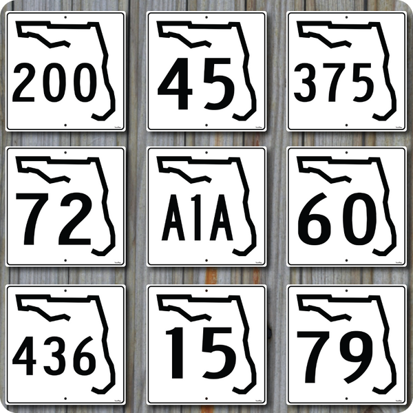 Customized Florida State Road Highway Sign