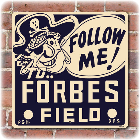 Forbes Field Retro Style Direction Sign - Original Home of the Pittsburgh Steelers & Pirates