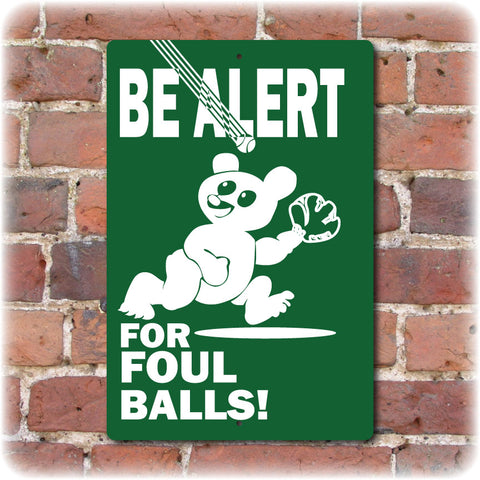 Wrigley Field Foul Ball Sign