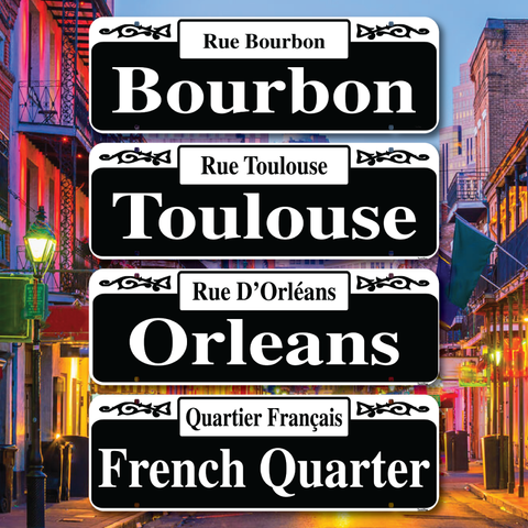 New Orleans French Quarter Street Signs - Home of Mardi Gras