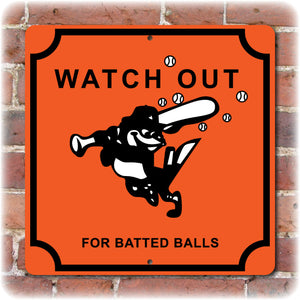 Vintage Foul Balls Sign - Memorial Stadium