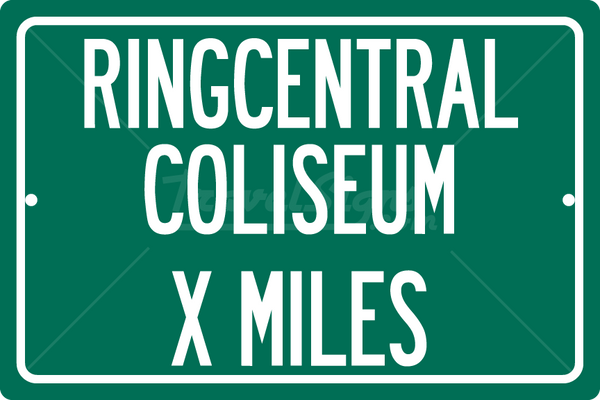 Personalized Highway Distance Sign To: RingCentral Coliseum, Home of the Oakland Raiders