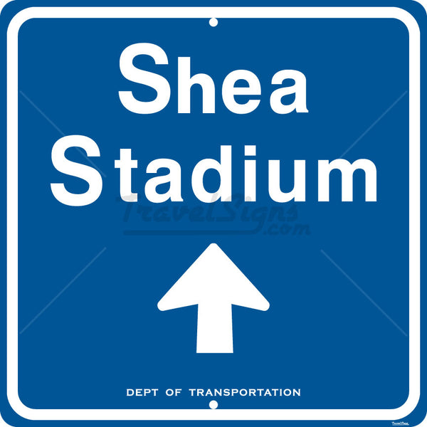 Shea Stadium Direction Arrow Sign