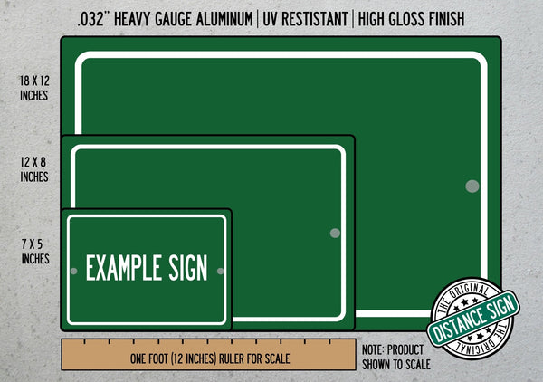 Personalized Highway Distance Sign To: US Army Base Fort Hood